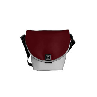 Royal Rose Red in an English Country Garden Messenger Bag