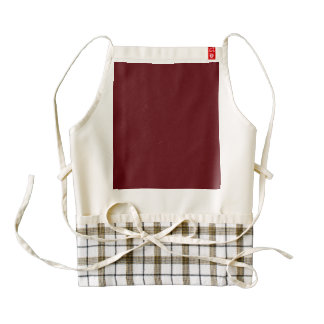 Royal Rose Red in an English Country Garden Zazzle HEART Apron