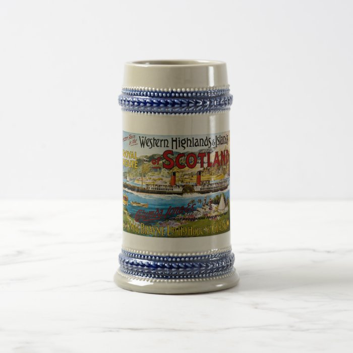 Royal Route of Scotland Summer Tours Vintage Beer Stein