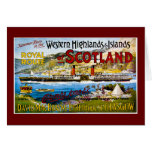 Royal Route of Scotland Summer Tours Vintage Card