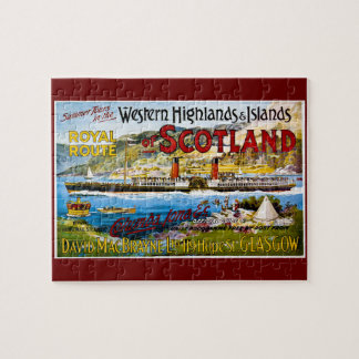 Royal Route of Scotland Summer Tours Vintage Jigsaw Puzzle