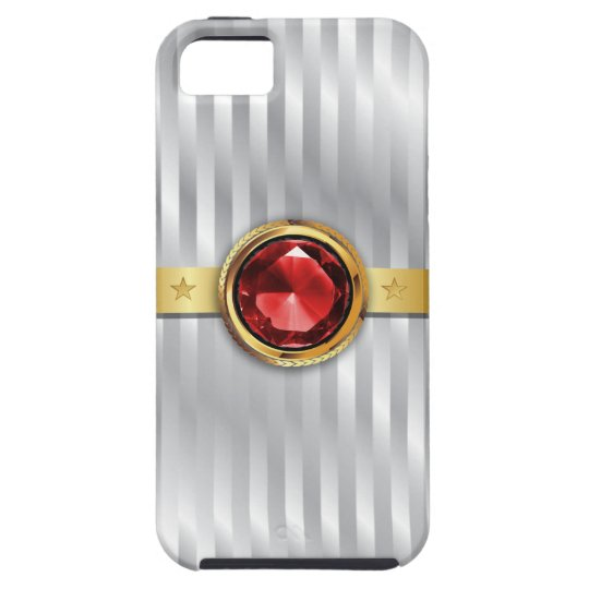 Royal Ruby Gemstone Sterling Silver iPhone 5 Case