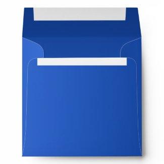 Royal Sapphire Blue Invitation Square Envelope envelope