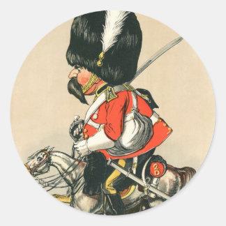 Royal Scots Greys Soldier Round Sticker