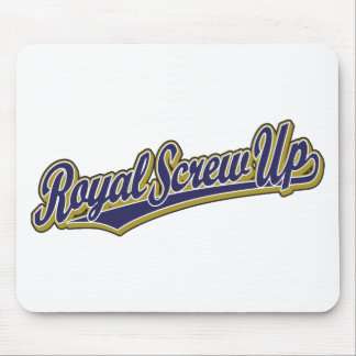 Royal Screw Up script logo in blue Mouse Pad