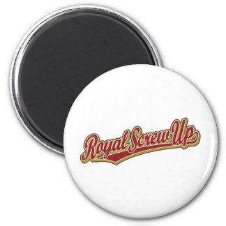 Royal Screw Up script logo in red Magnet