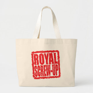 Royal Screw-up stamp Canvas Bags