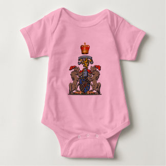 Royal Shield, William and Kate, Optional Text Baby Bodysuit