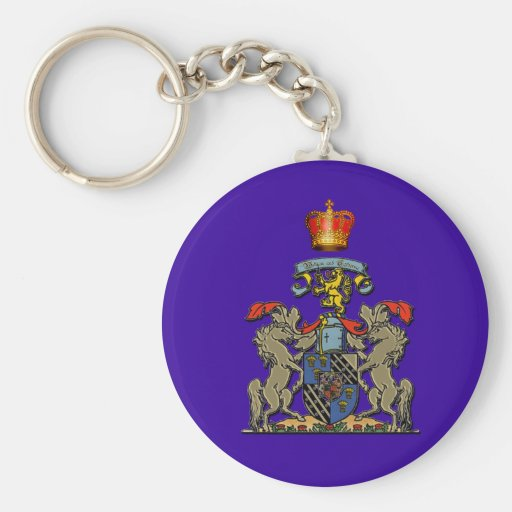 Royal Shield, William and Kate, Optional Text Keychains