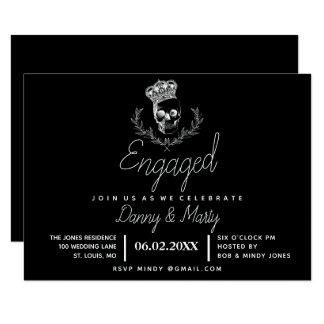 Royal Skull Engagement Party Card