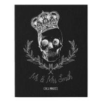 Royal Skull Faux Canvas Print
