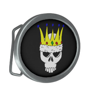 Royal Skull Oval Belt Buckle