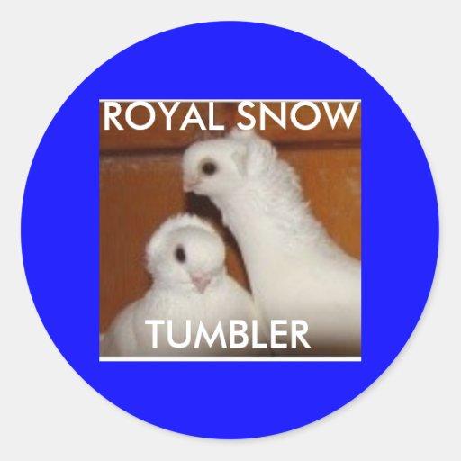 ROYAL SNOW TUMBLER ROUND STICKER