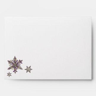 Royal Snowflake Customizable Holiday Envelope