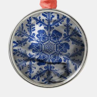 Royal Snowflake Ornament (blue)