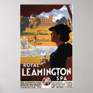 Royal Spa, Woman Drinking Water Rail Poster