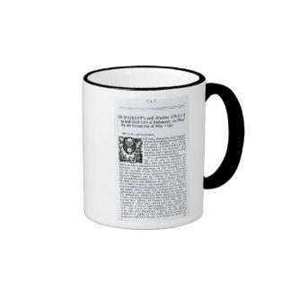 Royal Speech to both Houses of Parliament Ringer Mug