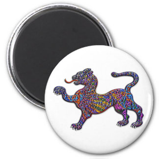 Royal Spotted Leopard Abstract Background 2 Inch Round Magnet