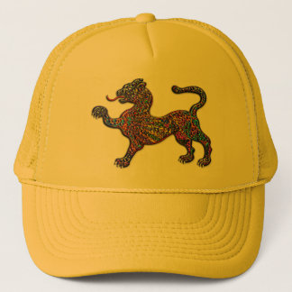 Royal Spotted Leopard Abstract Background Trucker Hat