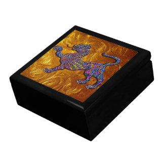 Royal Spotted Leopard Geometric Design Jewelry Box