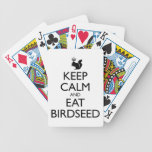 Royal Squirrel: Keep Calm and Eat Birdseed Poker Cards