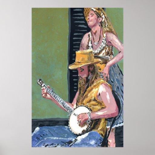 Royal St. Banjo Player Poster