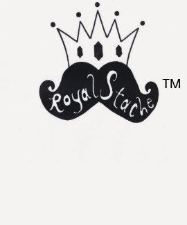 Royal Stache Fitted Women's Baseball T-Shirt