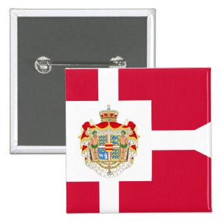Royal Standard Of Denmark, Greenland flag Pinback Buttons