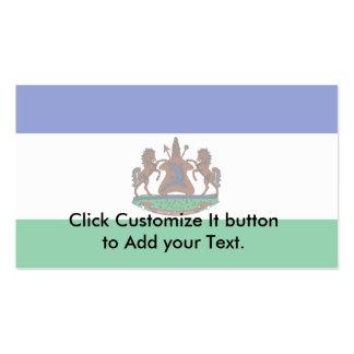 Royal Standard Of Lesotho, Lebanon flag Business Card