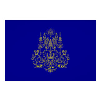Royal Standard Of The King Of Cambodia, Cambodia Print