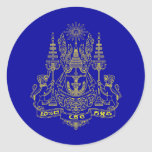 Royal Standard Of The King Of Cambodia, Cambodia Round Sticker