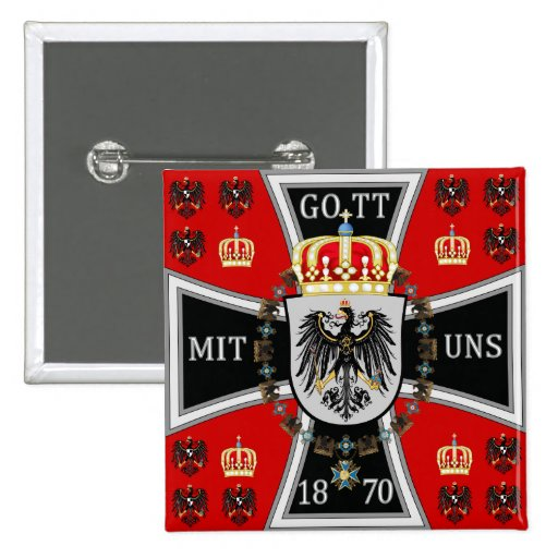 Royal Standard of the King of Prussia 2 Inch Square Button