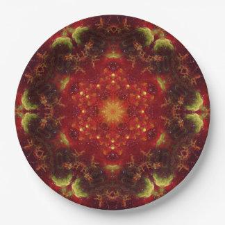 Royal Star Crest Mandala Paper Plate