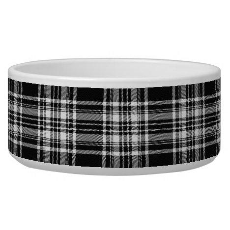 Royal Stewart Black And White Tartan Bowl