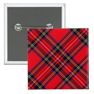 Royal Stewart 2 Inch Square Button