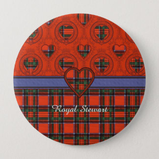 Royal Stewart clan Plaid Scottish tartan Pinback Button