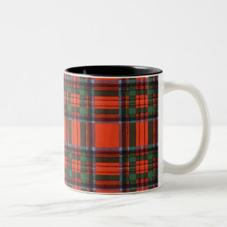 Royal Stewart clan Plaid Scottish tartan Two-Tone Coffee Mug