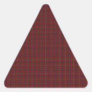 Royal Stewart Clan Tartan Triangle Sticker