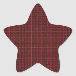 Royal Stewart Clan Tartan Star Sticker