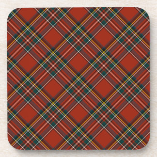 Royal Stewart Classic Red Scottish Tartan Beverage Coaster