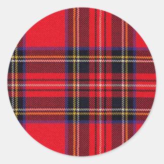Royal Stewart Classic Round Sticker