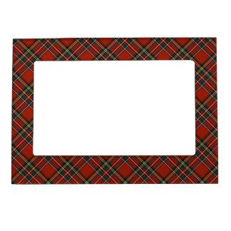 Royal Stewart Family Tartan Classic Red Plaid Magnetic Frame