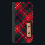"Royal Stewart Girly Tartan Pattern - Custom Name iPhone 8/7 Plus Wallet Case<br><div class=""desc"">Royal Stewart Girly Tartan Pattern - Custom Name - Pretty Cool and Unique Personalized iPhone 6 Plus Wallet Case for you.</div>"