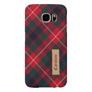 Royal Stewart Girly Tartan Pattern - Fabric Look Samsung Galaxy S6 Case