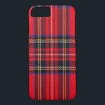 "Royal Stewart iPhone 8/7 Case<br><div class=""desc"">Royal Stewart tartan plaid</div>"