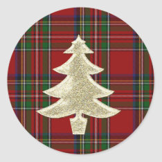 Royal Stewart Plaid Christmas Envelope Seal at Zazzle