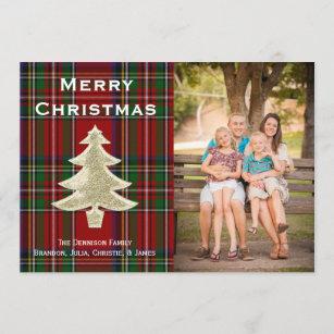 plaid photo cards zazzle