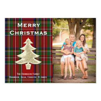 Royal Stewart Plaid Custom Christmas Photo Card