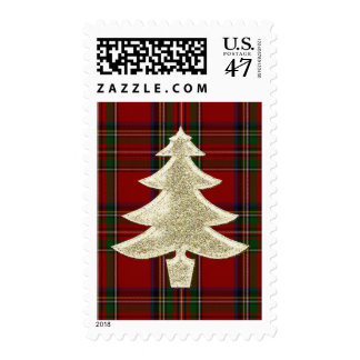 Royal Stewart Plaid Holiday Stamp