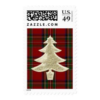 Royal Stewart Plaid Holiday Stamp Stamp